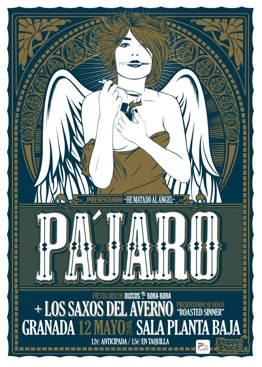 Pájaro + Los Saxos del Averno en Granada